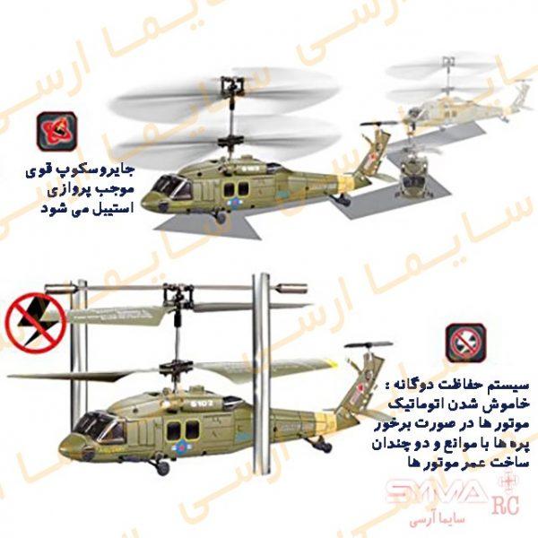 حفاظت دوگانه در هلیکوپتر کنترلی s102g سایما