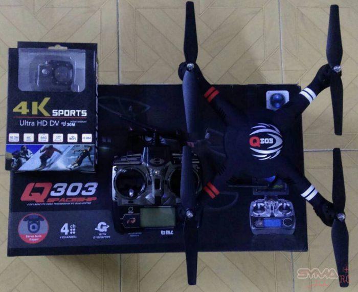 پک کوادکوپتر q303 با دوربین 4k