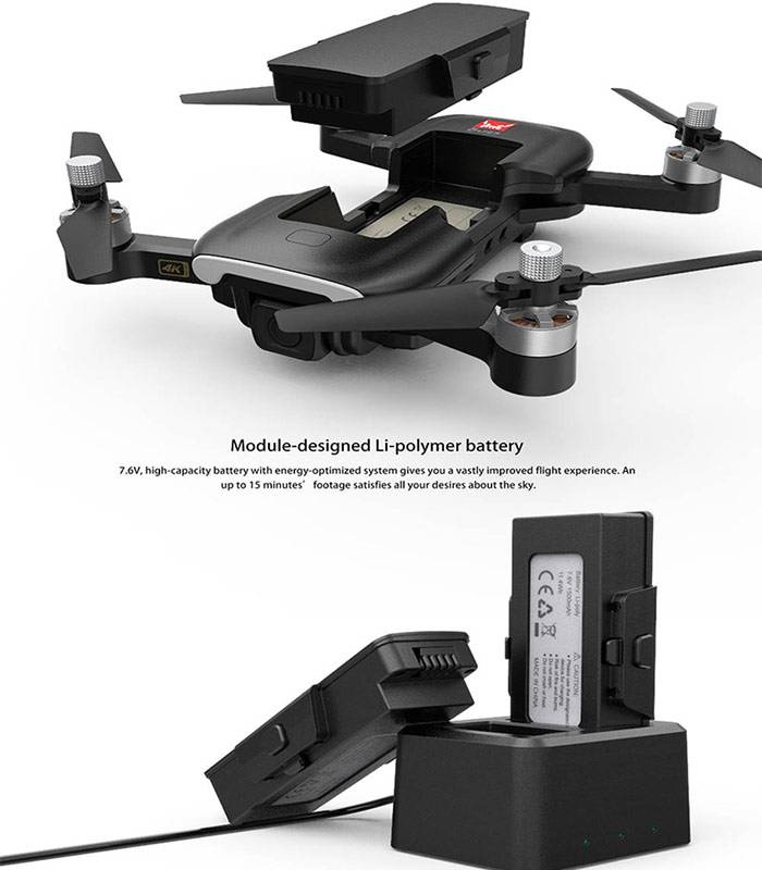ویژگی باتری لیتیومی کوادکوپتر mjx bugs w7