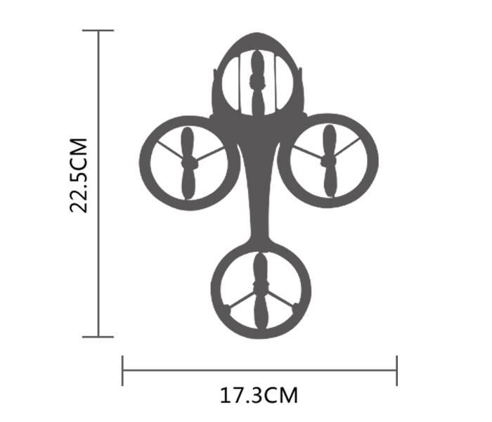 جنس، ابعاد و مشخصات ظاهری هلیکوپتر سایما Syma TF1001