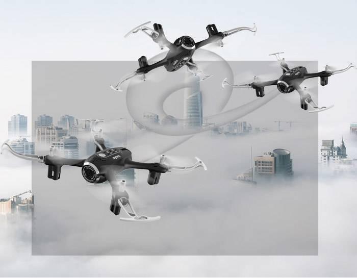 قابلیت اجرای حرکات پروازی 360 درجه ای هلی شات سایما syma X22SW