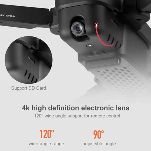 دوربین کوادکوپتر Aviator 8811 با قابلیت 4K با زاویه دید 120 درجه