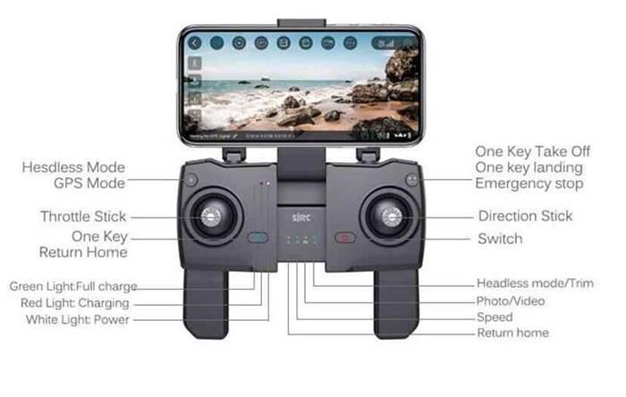 ویژگی های رادیو کنترل پهپاد SJRC Z5