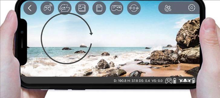 قابلیت کنترل با موبایل در کوادکوپتر تاشو SJRC Z5