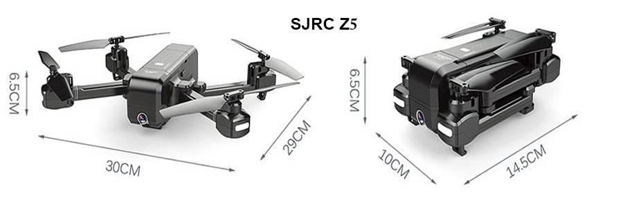ابعاد، وزن و جنس بدنه کوادکوپتر SJRC z5