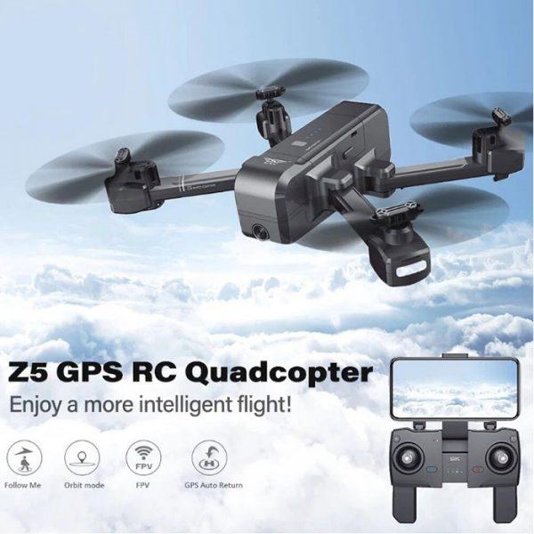 پهباد با سیستم موقعیت یاب GPS کوادکوپتر z5